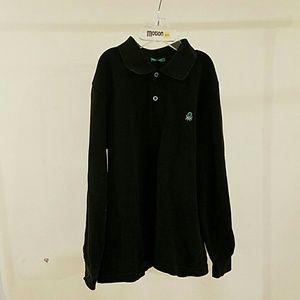Polo Shirt Top Kids Children Size S 5-6 Black Long